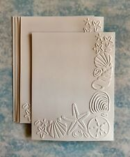 STAMPIN' UP+(4)  SEASHELLS. EMBOSSED CARD FRONT OR BACKGROUND. ALL SEASONS.
