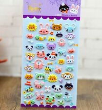 FD4503 □ Korea Design Animal Kingdom Bubble Sticker for Diary Reward