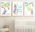 Купить Peter Rabbit Beatrix Potter Print Set Of 3, Yellow And Blue Baby Children Room