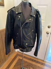 Men's Vintage Leather Wear Black Zip-Up Biker Punk Leather MOTO Jacket