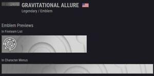 Destiny 2 Emblem Gravitational Allure CODE in hand Fast Delivery