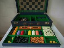 ANTIQUE OR VINTAGE  F.H. AYRES LARGE COMPENDIUM GAMES BOX AND CHESS BACKGAMMON