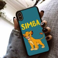 The Lion King Simba Soft Black Phone Cover Case for Apple iPhone Samsung Huawei