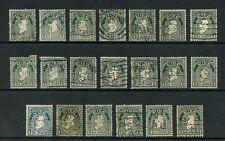 IRELAND PERFINS 1922-34 MAP 2d...20 DIFFERENT...L3