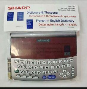 Sharp Electronic Dictionary & Thesaurus French ~ English New Sealed PWE-260