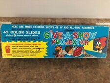 Kenner 1961 Give A Show Projector 21 Slides Vintage Color Cartoons