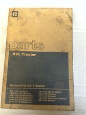 CAT Caterpillar D9L Tractor w/ 3412 Engine Parts Book S/N In Description