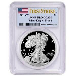 Presale - 2021-W Proof $1 American Silver Eagle PCGS PR70DCAM First Strike Flag