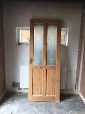 Solid Wood Glased Internal Door Lock not included
