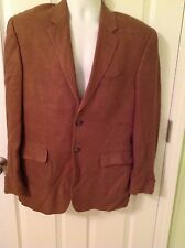 Mens Madison Linen suit Coat Size 40 Color Brown