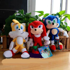 Sonic The Hedgehog Sonic Knuckles Tails Plush Doll Figure Stuffed Animal Toy