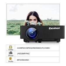 E08 2500Lumen LCD Projector Home Cinema 1080P Support Multi-screen For Smartphon