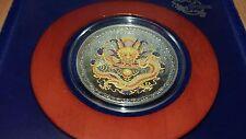 Islas Cook 2012 $5 prosperidad traídas por el Dragón Amarillo 1 OZ (approx. 28.35 g) Moneda De Plata