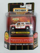 2000 Matchbox Emergency Service Chevy Suburban Fire KB Toys Exclusive 92395