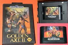SEGA GENESIS ~ GOLDEN AXE I (game only) & GOLDEN AXE II (with box) VIDEO GAMES