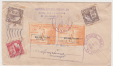 El Salvador 1935 Registered Airmail Cover From General Arturo Fischnaler to USA