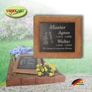 Grabplatte Grabstein Gedenkplatte Gedenkstein inkl. Gravur mit Sockel