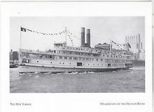 "+PC-Postcard-""New Yorker"" -aka-The Trojan- /*Steamboats on Hudson River/ (#132)"