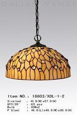 Tiffany Lampe Deckenlampe Hängelampe Pendelleuchte Tiffanylampe natur neu D28L