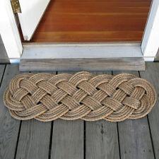 Mystic Knotwork: Manila Rope Woven Door Mat Rug, Prolonged Knot