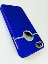 Deluxe BLUE  Hard Case Cover  Chrome for Apple iPhone 5 5S SE + SCREEN Protector