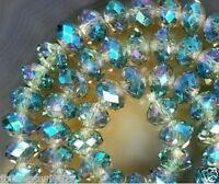 Celadon Swarovski Crystal Gem Loose Beads 4x6mm 100pcs