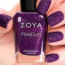 ZOYA PixieDust ZP701 CARTER purple matte sparkle nail polish lacquer~PIXIE DUST