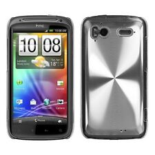 Silver Cosmo Hard Case Phone Cover for HTC Sensation 4G