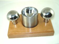 """Cupola Punch & Die Set 2 1/2 and 2 3/4"""" punches with Double Sided Die and Stand"""