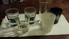 lot of 6 shot glasses hard rock cafe sauza tap out great collectors pieces!!