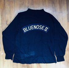 VINTAGE 1960's BLUENOSE II 2 boat CREW SWEATER uniform sailing clothing OG dime