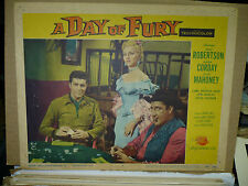 A DAY OF FURY orig 1956 LC #6 (Dale Robertson, Mara Corday) poker chips on table