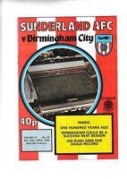 Sunderland v Birmingham City 1983/4 (28 Apr)