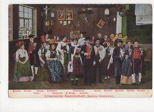 Schwarzwaelder Bauernhochzeit Badische Volkstrachten Postcard Germany 396a