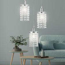 Kristall Decken Leuchte Glas Hänge Lampe Chrom Strahler Ess Zimmer Design Pendel