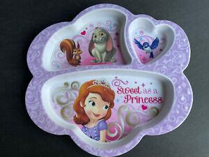 Sophia the First Sweet as a Princess divided Melamine Plate Disney Zak