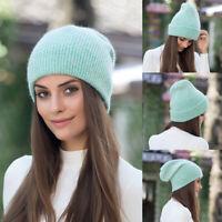 Fashion Rabbit Fur Beanie Hat Women Winter Skullies Warm Gravity Falls Cap n