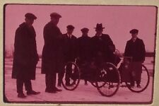 Q195 Rare Vtg HENRY FORD ON HIS QUADRICYCLE Orig Photo Negative George DeAngelis