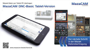 Mazak: MazaCAM DNC Tablet für Mazak, Mazatrol Datenübertragung
