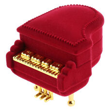 Fashion Red Piano Shape Ring Earring Pendant Necklace Box Jewelry Gift Case