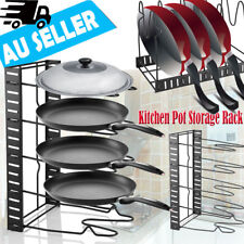 Kitchen Storage Rack Organizer Pot Pan Cookware Lid Pantry Holder Cutting Boards