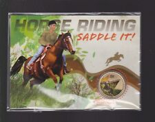2013 $1 Coin Saddle It Horse Riding Rider Australia