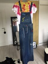 90 Damen Jeansrock Latz Rock Jeans Corsagenrock mit Träger Stiftrock