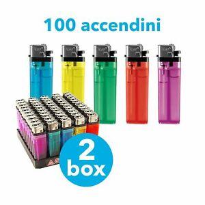100 ACCENDINI ATOMIC ECONOMICI A PIETRINA TRASPARENTI 2 box