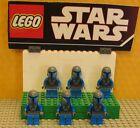"STAR WARS LEGO LOT MINIFIGURE--MINI FIG--"" LOT OF 6 MANDALORIAN'S """