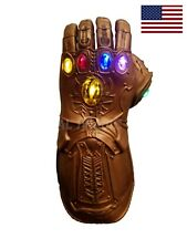 US! Avengers Infinity War Thanos LED Light Gauntlet Glove ADULT Costume Prop