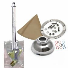 16 Transmission Mount Emergency Hand Brake with Tan Boot, Silver Ring and Cap