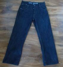 APT linea uomo Jeans denim scuro patta con bottoni taglia 34 Brevi