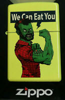 zippo lighter zombie We Can Eat You NEW IN BOX Very RARE Limited Edition MNT