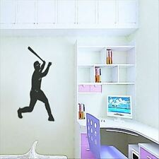 Huhome PVC Wall Stickers Wallpaper Baseball batting lying bedside European and A